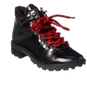 NEW Schutz Niceia Patent Leather Hiking Boot